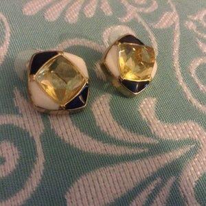 Jewelry - Vintage Chunky Geometric Earrings